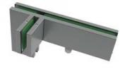 Conector supralumina/panou fix cu accesoriu paravant